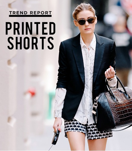 Trend- Printed shorts