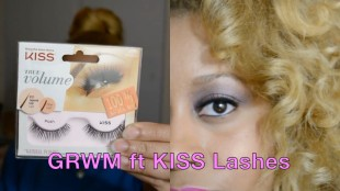 NYE face- KISS Lashes slate